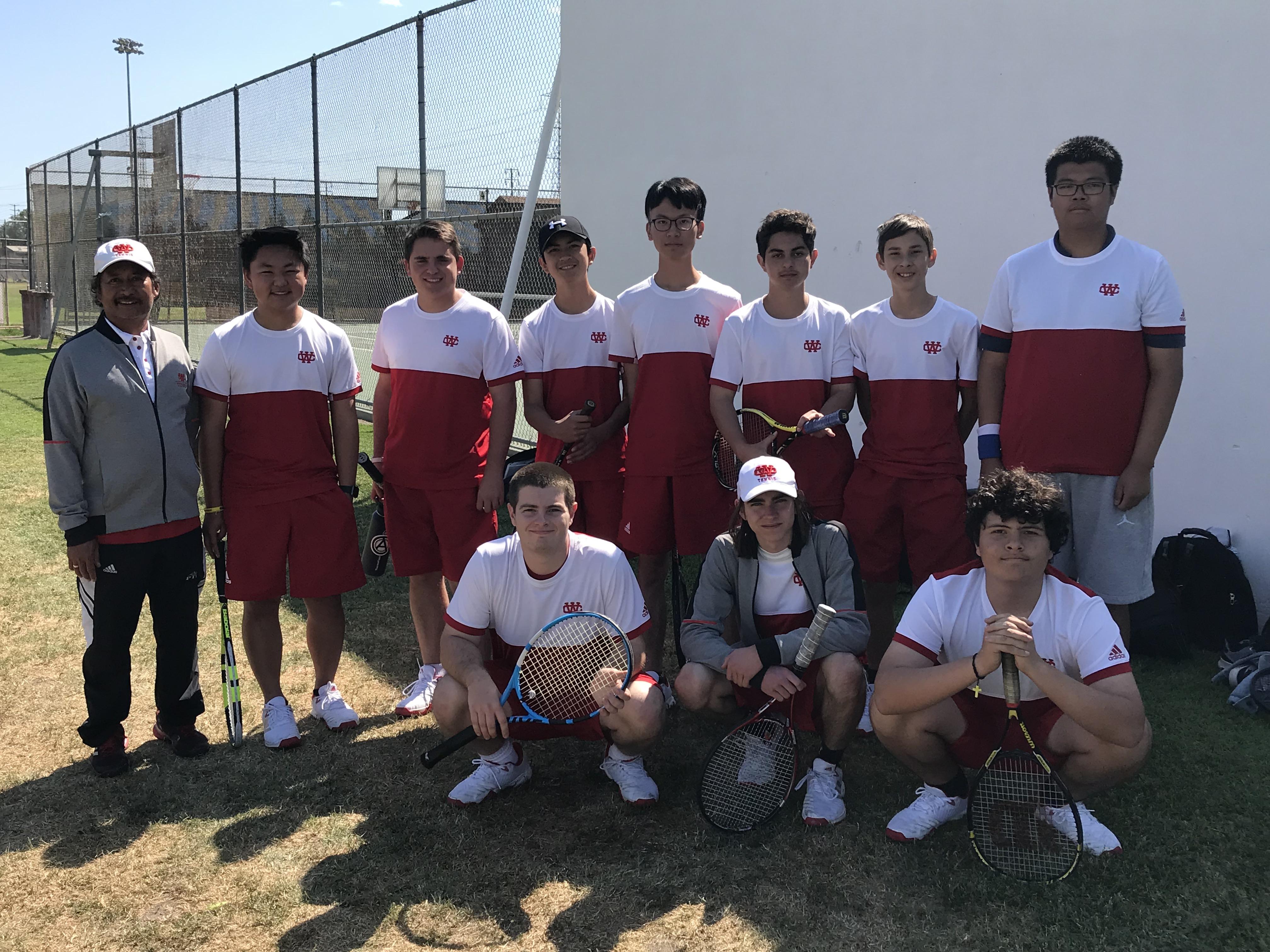 NEW PHOTOS:  Boys Tennis Battles Valley Christian