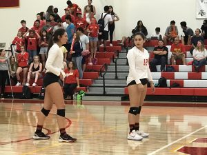 NEW PHOTOS:  Varsity Volleyball defeats La Habra 3-0