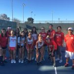 Girls Tennis Defeats La Habra in a Close Match