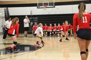 NEW PHOTOS: Varsity Volleyball beats Heritage 3-0