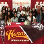 Hailey Gallegos signs to play at Texas A & M!