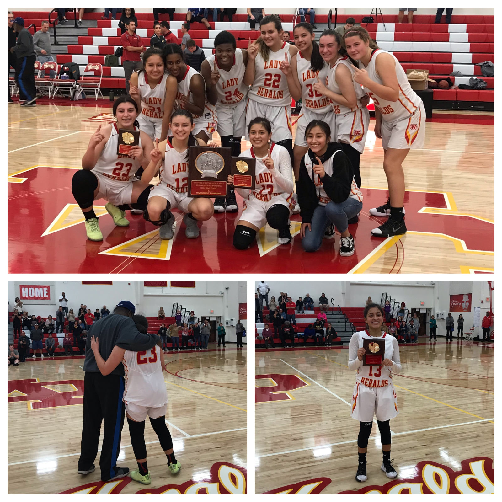 Lady Heralds win championship in 53-51 nail biter over El Rancho Dons