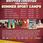 Don't miss out on WCHS Summer Sports Camps