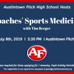 "Austintown hosting ""Coaches' Sports Medicine"" Class"