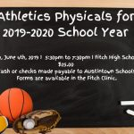 Athletic Physicals for 2019-2020
