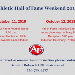 Athletic Hall of Fame Weekend 2019
