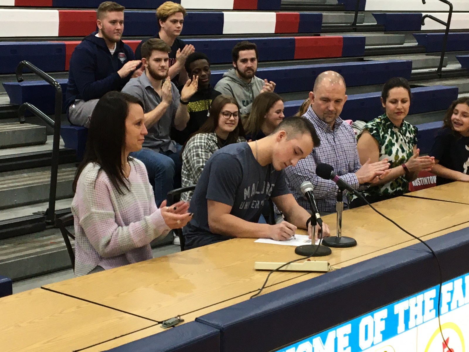Gabe Faunda signs with Malone College for Baseball