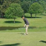 West Bloomfield High School Boys Varsity Golf beat Churchill High School 180-182