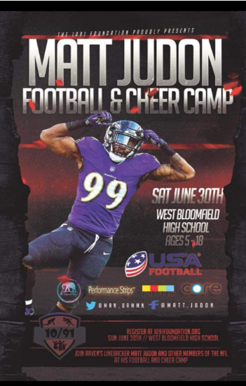 Join Baltimore Ravens Star Matt Judon at WBHS for Camp