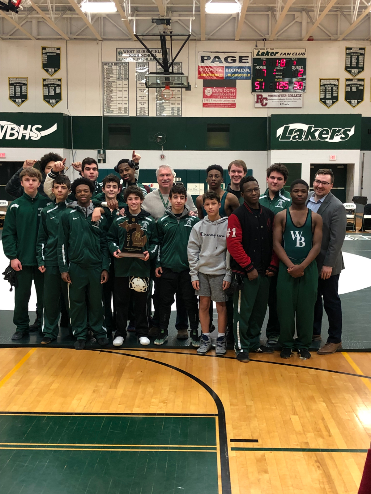 Lakers Wrestling District Champs!!!!