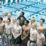 The now undefeated Boys Varsity Swim & Dive Team beats Hazel Park 128 – 30