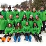 Girls Varsity Skiing trails Lakeland by 10 points after Slalom event