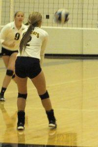 Varsity volleyball agst Oregon Davis