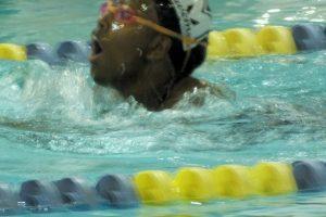 Girls swim against Mishawaka