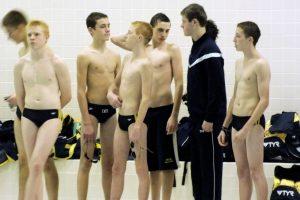 Boys swim against Mishawaka