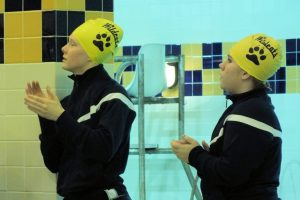 Girls swim against Clay…Senior Night