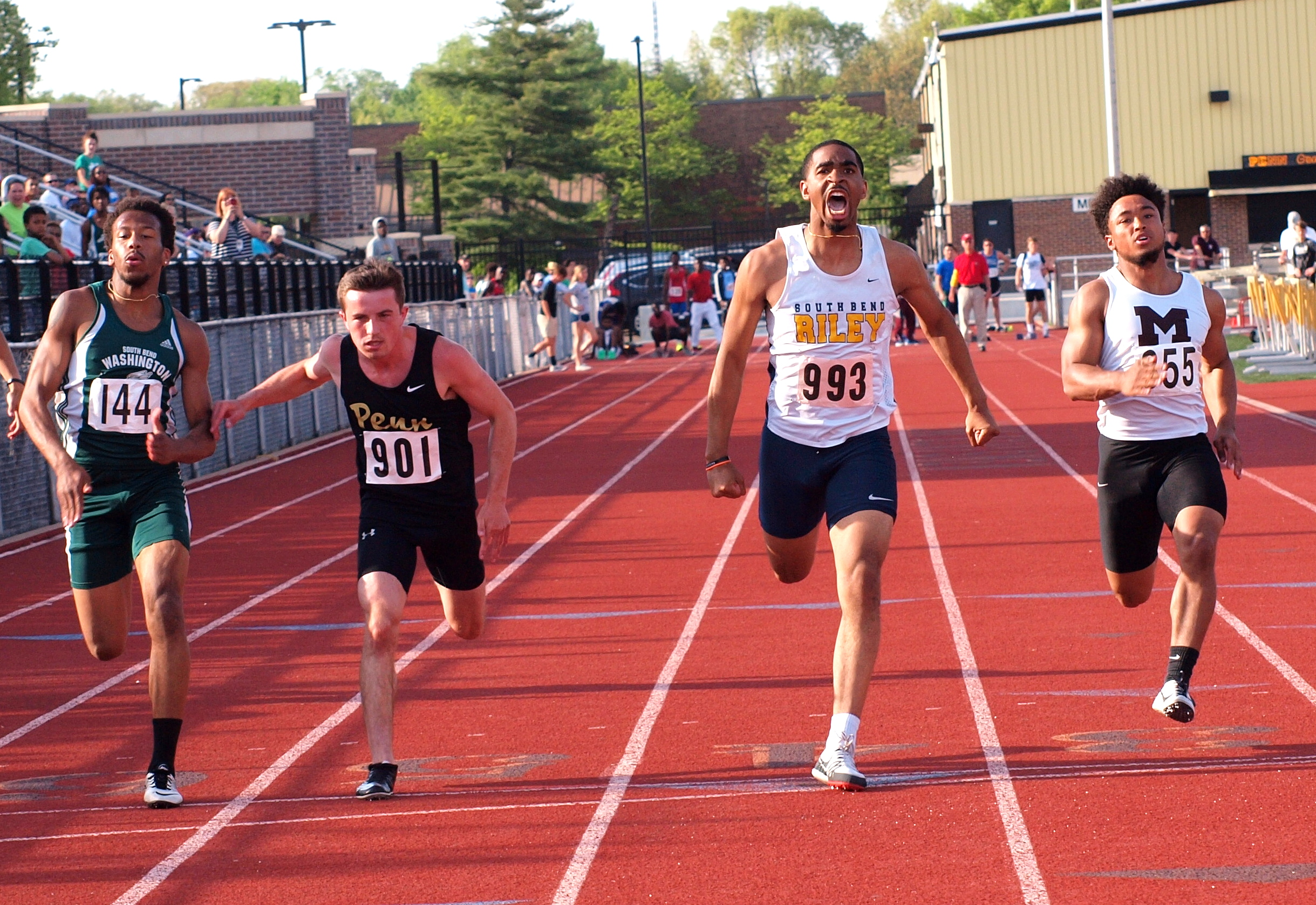 Boys T & F finish 4th at Sectionals
