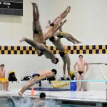 Coed swimming against Penn