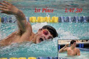 Boys Swimming against New Prairie