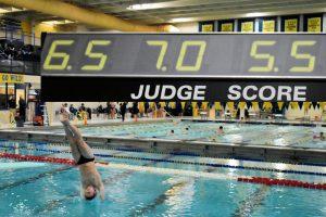 Boys swim against Elkhart Central