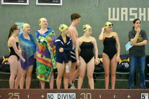 Girls Swimming at Washington