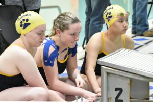 Girls swim against Goshen
