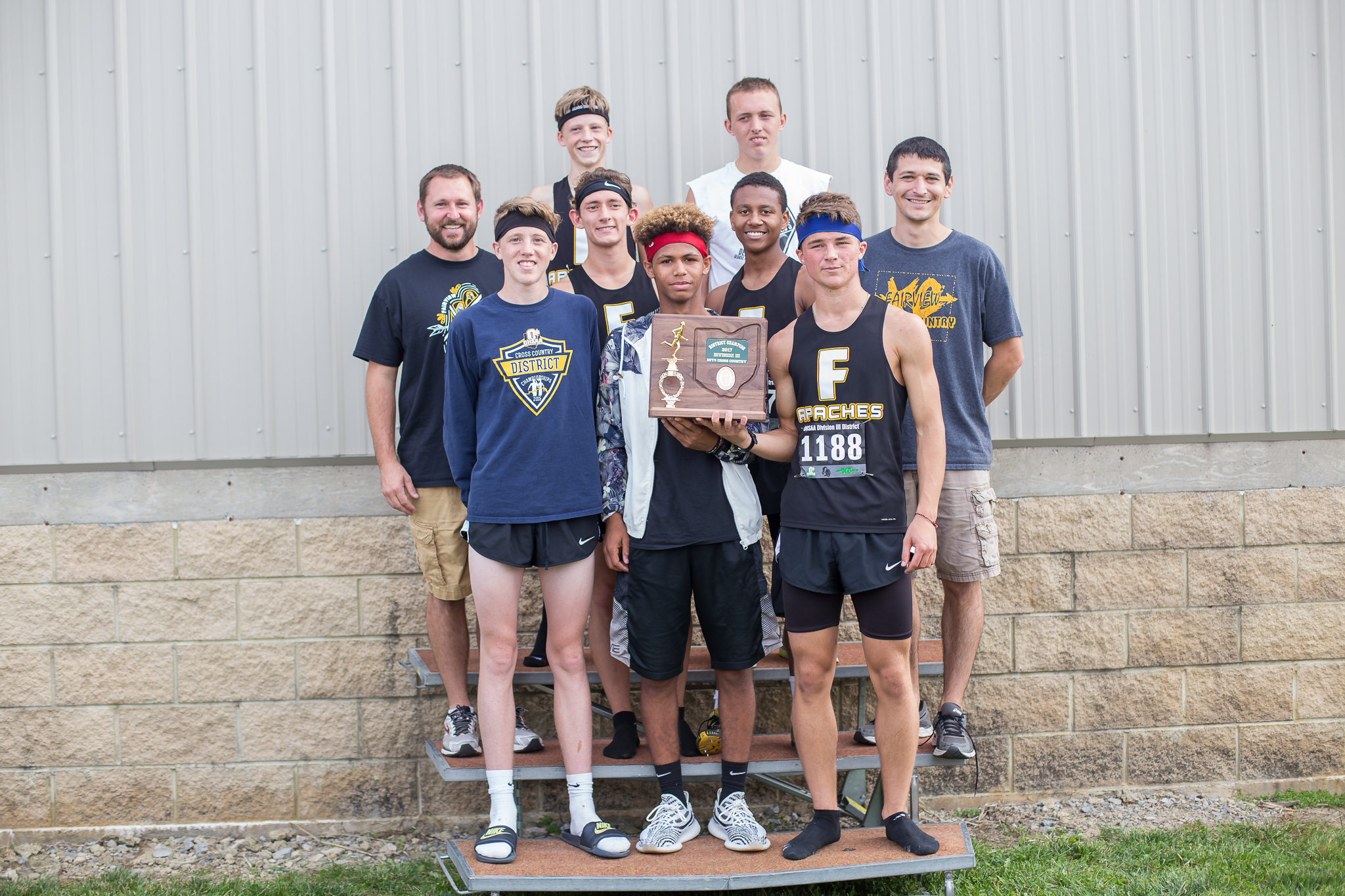 Boys cross country brings home District Championship
