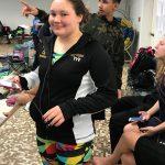 Emerald Rittenhouse-Starbuck advances to the District swim meet.