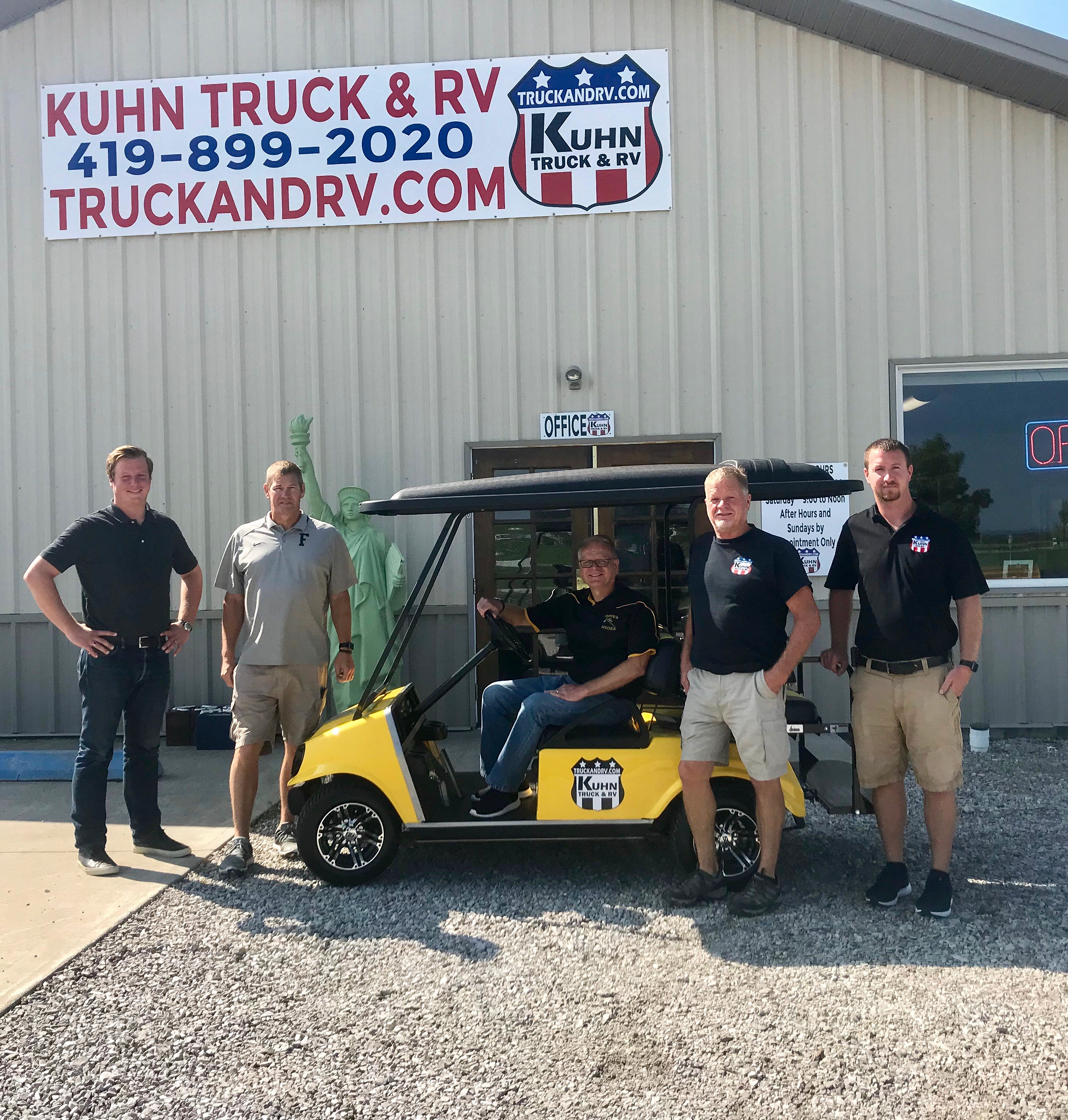 Kuhn Truck and RV donates golf cart to Fairview Athletics