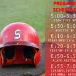 Stratford Baseball Pregame Schedule