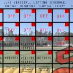 Baseball Sets Summer Lifting Schedule