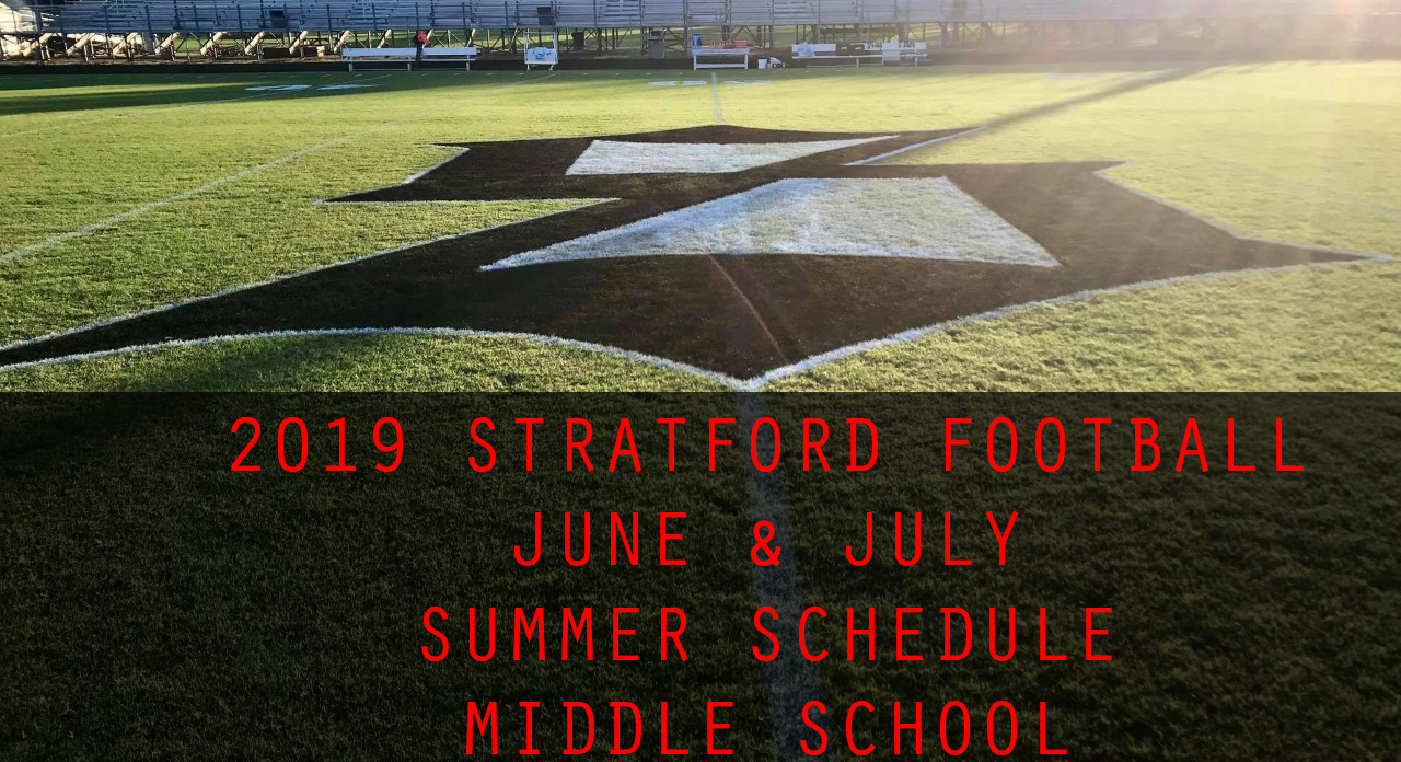 Football Sets Summer Weightlifting Dates (Middle School Football Players)