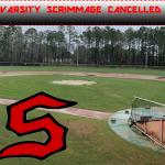 Varsity Baseball Scrimmage Versus Woodland Cancelled