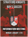 Boy's Soccer Information Meeting January 11th