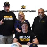 Jake Burns Signs at Adrian College