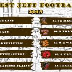 HS Football: 2019 Schedule