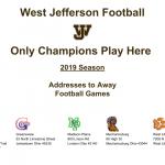 HS Football: 2019 Season-Addresses to Away Games