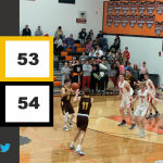 Boys Varsity Basketball falls to West Liberty Salem 54 – 53