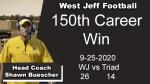 HS Football: Coach Buescher 150th Career Win