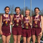 California Girls 4 x 400 Team Wins Gold at Mid Mon Classic