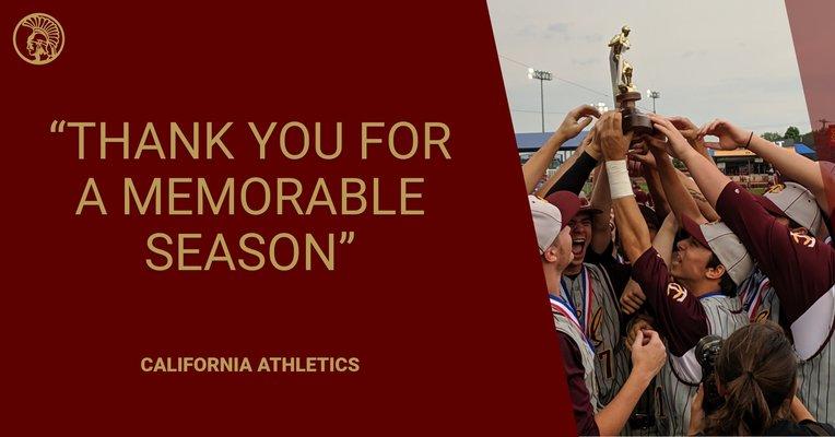 Congratulations on a great season for the Baseball team!