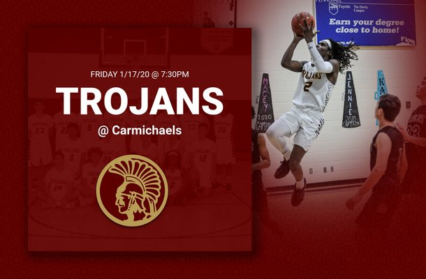 Trojans travel to Carmichaels tonight (1/17/2020) at 7:30pm