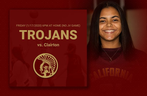 Lady Trojans host Clairton tonight (1/17/2020) at 6pm (varsity only)
