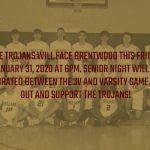 Boys Basketball Senior Night Friday January 31, 2020 vs. Brentwood