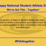 Happy National Student-Athlete Day