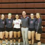 Volleyball Clinches District on Senior Night