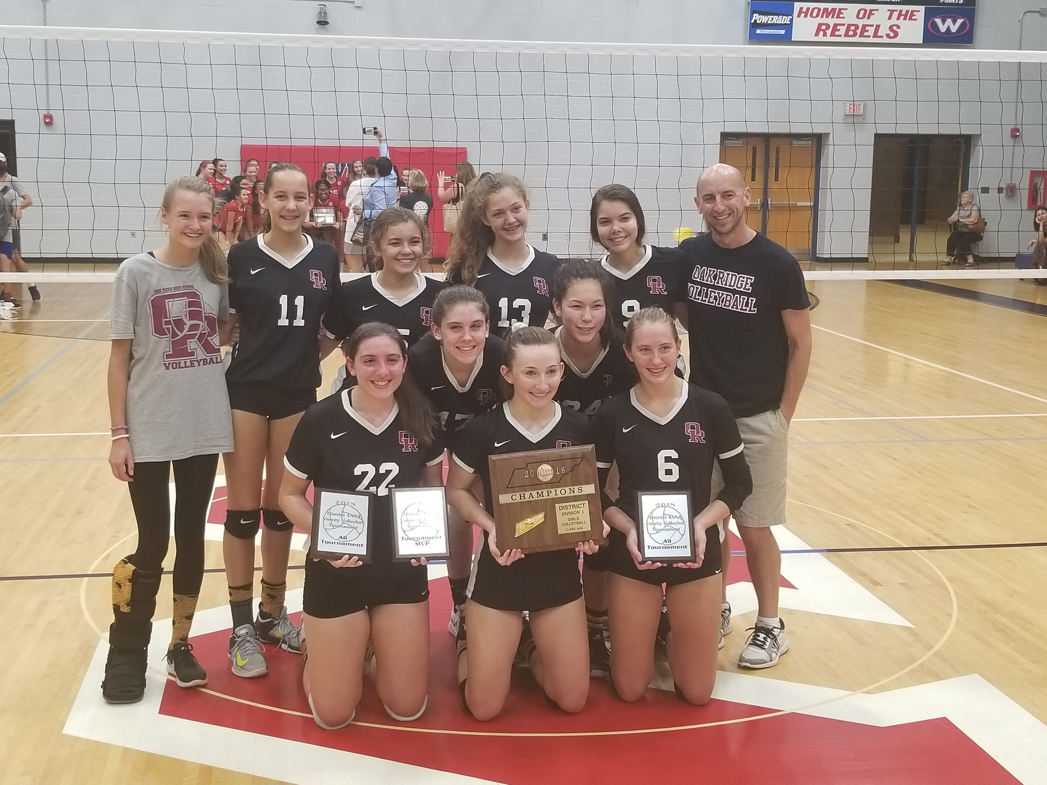 Volleyball Captures District Championship over West