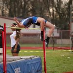 FRESHMAN Taylor Whitton tied the CCS school record with a high jump of 5'4″!