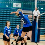Varsity Girls Volleyball falls to Norwood 3-2