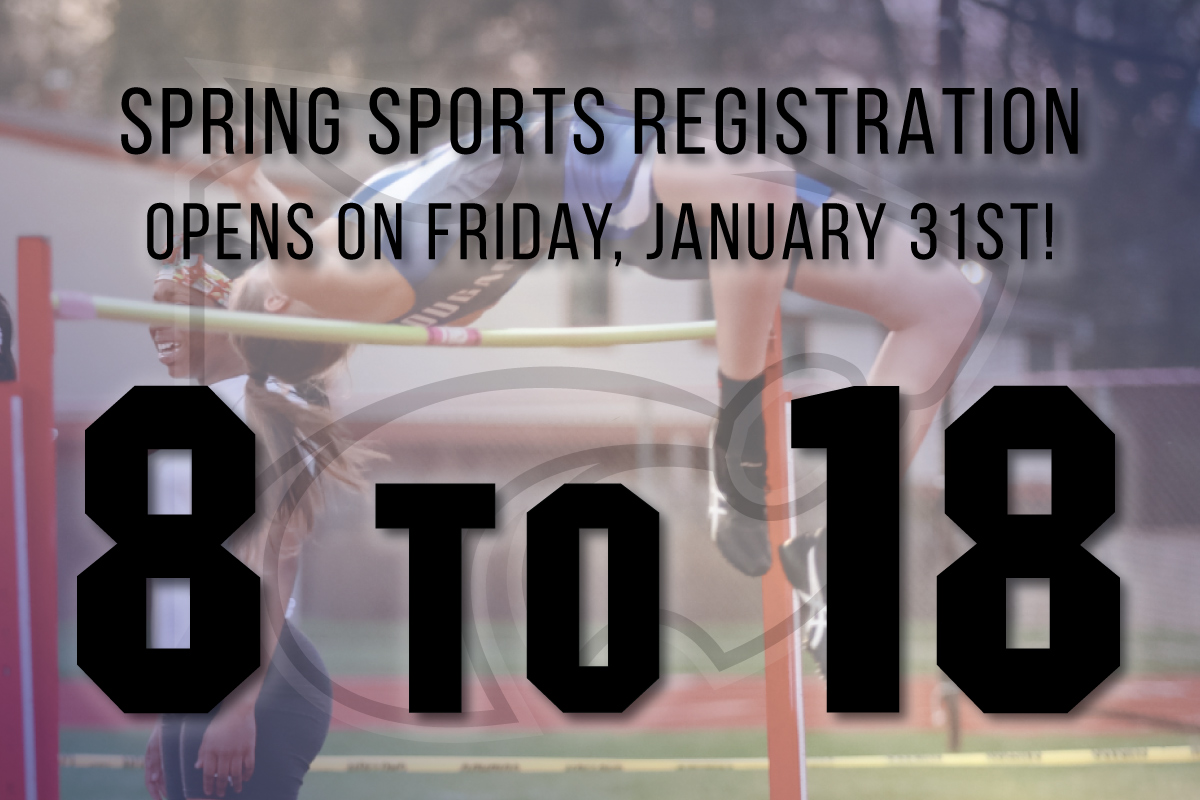 Spring Sports Registration Opens January 31!